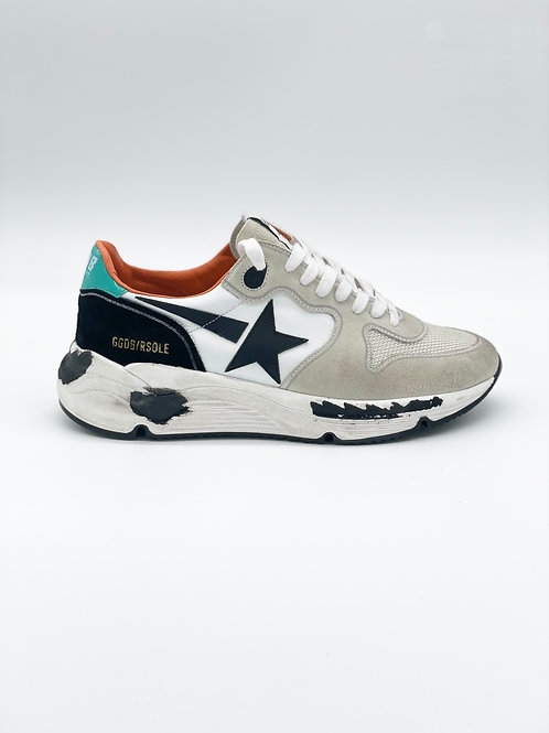 Golden Goose Running Sole in suede e canvas