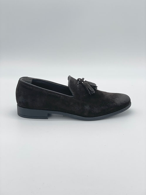 Daniele Alessandrini Loafers con nappine marrone