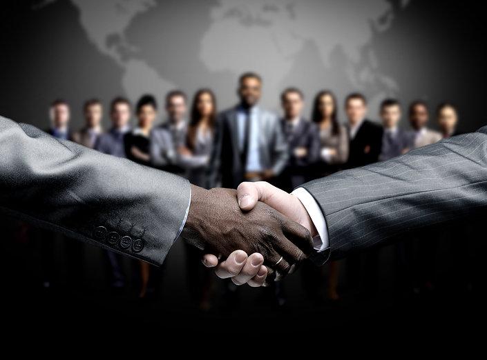 handshake isolated on business backgroun
