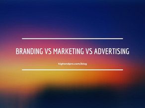 Branding vs Marketing vs Advertising