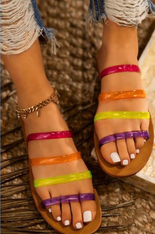 Neon Jelly Slides