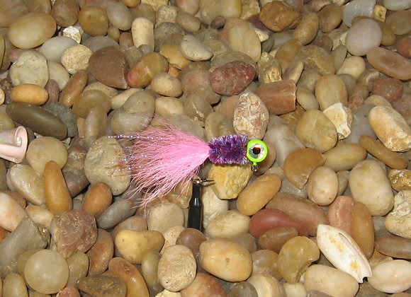3 pack 1/16 pink chartreuse purple premium kip tail jig on #4 bronze sickle