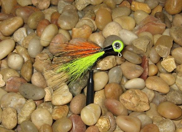 3 pack 1/16 firetiger premium kip tail jig on #4 bronze sickle