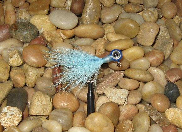 3 pack 1/16 powder blue kip tail jig on #4 bronze sickle