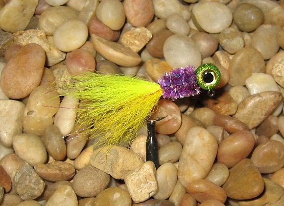 3 pack 1/16 -1/8 premium yellow purple kip tail crappie jigs #4 bronze sick