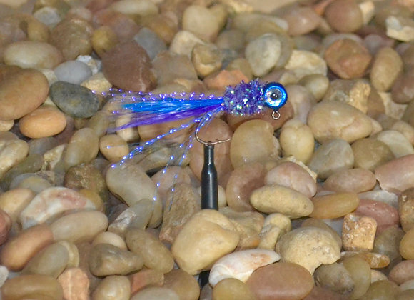4 pack 1/16 candy blue slurpy hackle feather crappie jig #4 sickle
