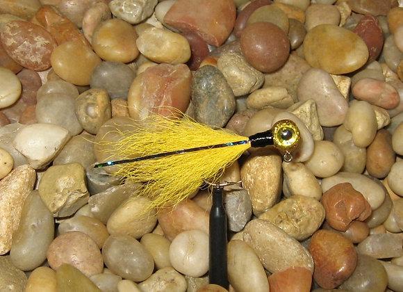 3 pack 1/16 -1/8 premium hawkeye gold kip tail crappie jigs #4 bronze sick
