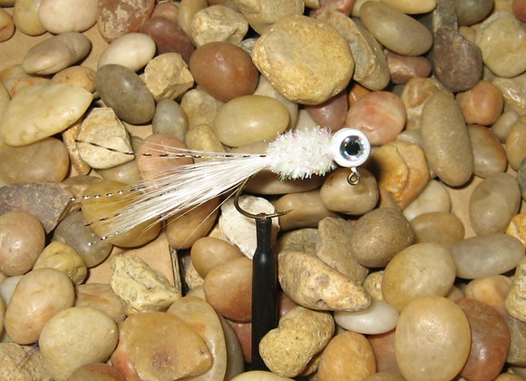 4 pack 1/16 white shiner hackle feather crappie jig #4 sickle you pick size