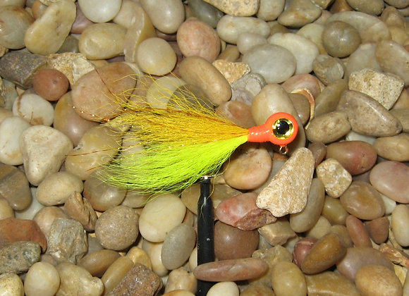 3 pack 1/16 -1/8  flo. yellow gold orange kip tail crappie jigs #4 bronze sick
