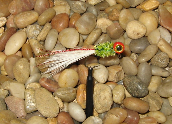 4 pack 1/16 red green white hackle feather crappie jig #4 sickle your choice