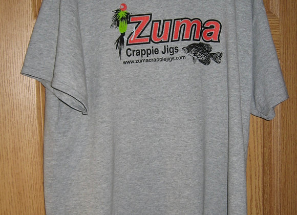 Zuma crappie jigs t-shirts available now as shown
