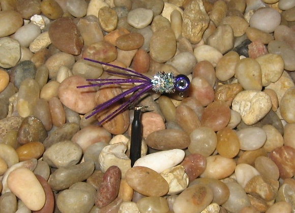 4 pack 1/16 candy purple rainbow  crazy legs crappie jig #4 bronze sickl