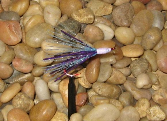 Zuma minnow bling glow purple blue and white glow flash #2 red hook