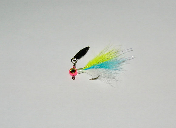 3 pack 1/16 -1/8 cotton candy kip tail zuma spin jig on sickle hooks