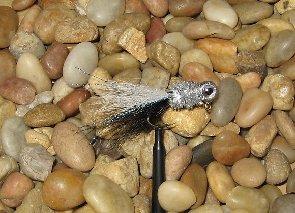 3 pack 1/16 silver minnow kip tail jig on #4 bronze sickle