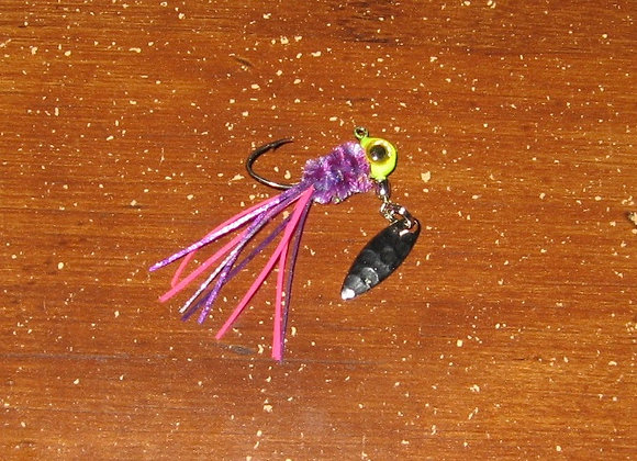 3 pack 1/16 -1/8 popsickle crazy legs zuma spin jig on sickle hooks