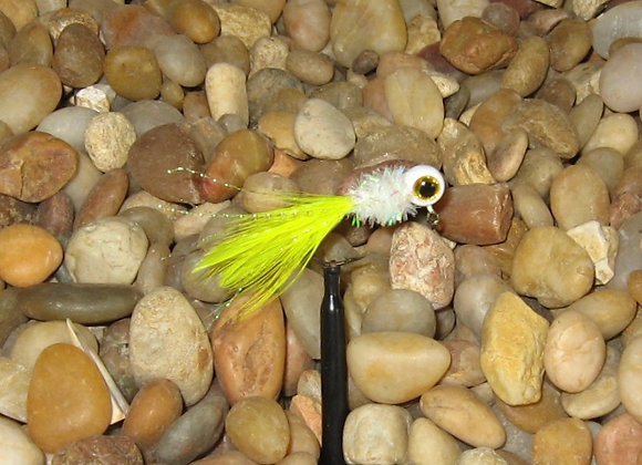 4 pack 1/16 yellow white  hackle feather crappie jig #4 sickle you p
