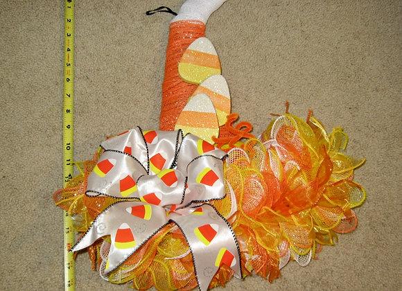 "Cindy's Handmade candy corn colored door wall wreath home decor fall theme 18"" x"