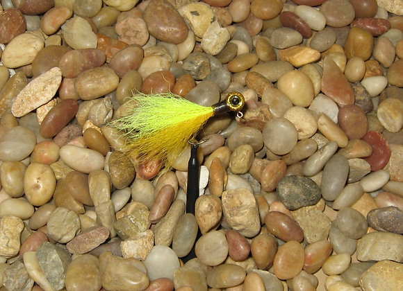 3 pack 1/16 premium gold yellow graphite kip tail crappie jigs #4 bronze sickl
