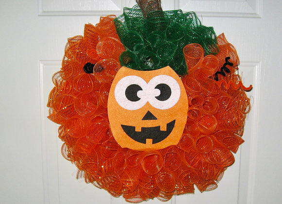 Cindy's Handmade halloween pumpkin door wall wreath home decor
