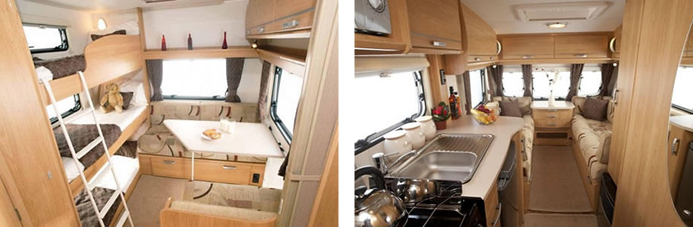 Bunks and dining space for 3
