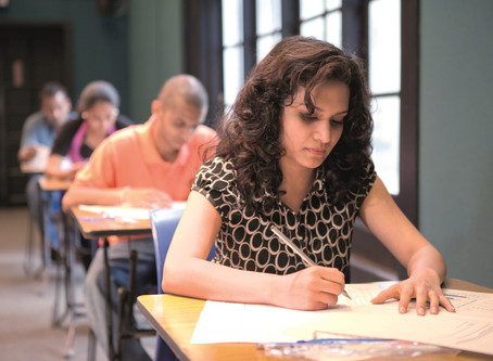 IELTS TEST DAY – observations and exam technique of students doing the paper based test.