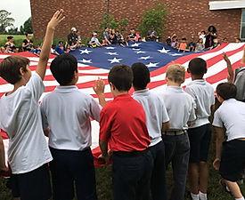 St. Bartholomew School Flag Day