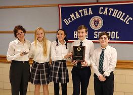 St. Bartholomew School DeMatha Academic Challenge Team