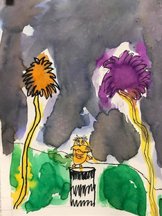 Dr. Suess Week Watercolor Project