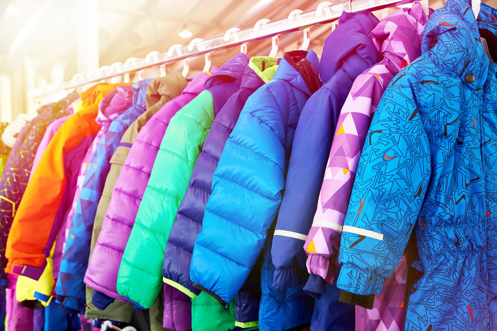 Winter children sports jacket on a hange