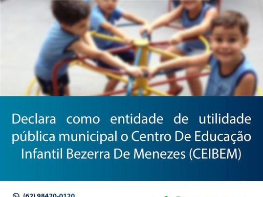 Aprovado projeto que declara como utilidade pública o Centro de Educação Infantil Bezerra de Menezes