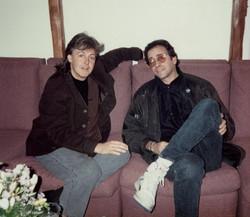 Paul McCartney backstage at Madison