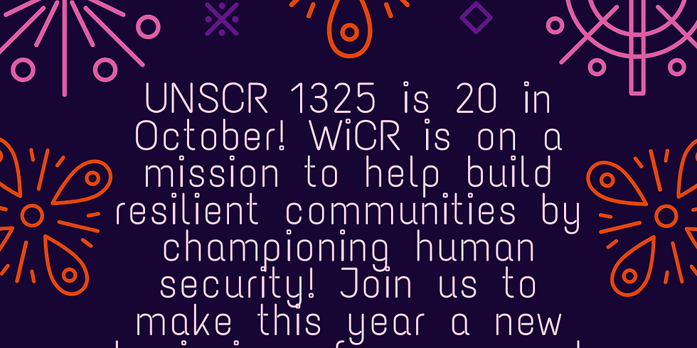 United Nations Security Council Resolution 1325 Turns 20 in October!