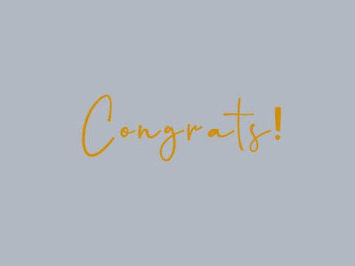 Congrats! - Card