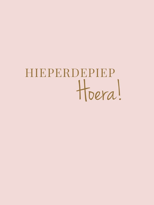 Hieperdepiep HOERA! - Card