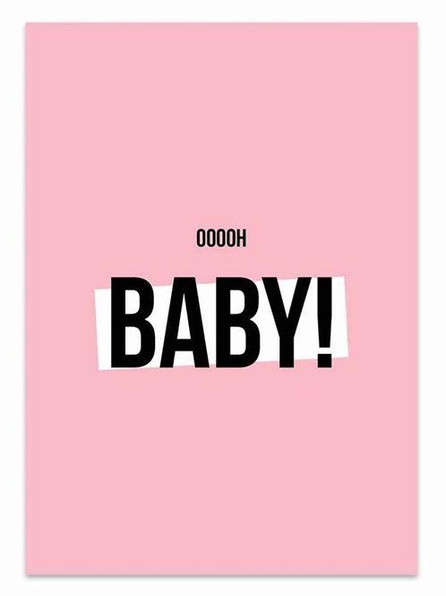 Ooooh Baby! - Card Pink