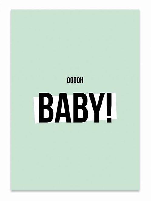 Ooooh Baby! - Card Green