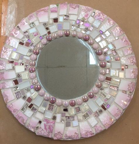 Pink China Mirror - $95