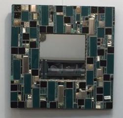 Aqua & Black mirror - $265