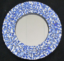 """15"""" blue china mirror - sold"""