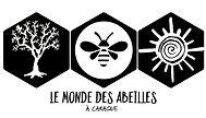 le monde des abeilles logo noir texte on