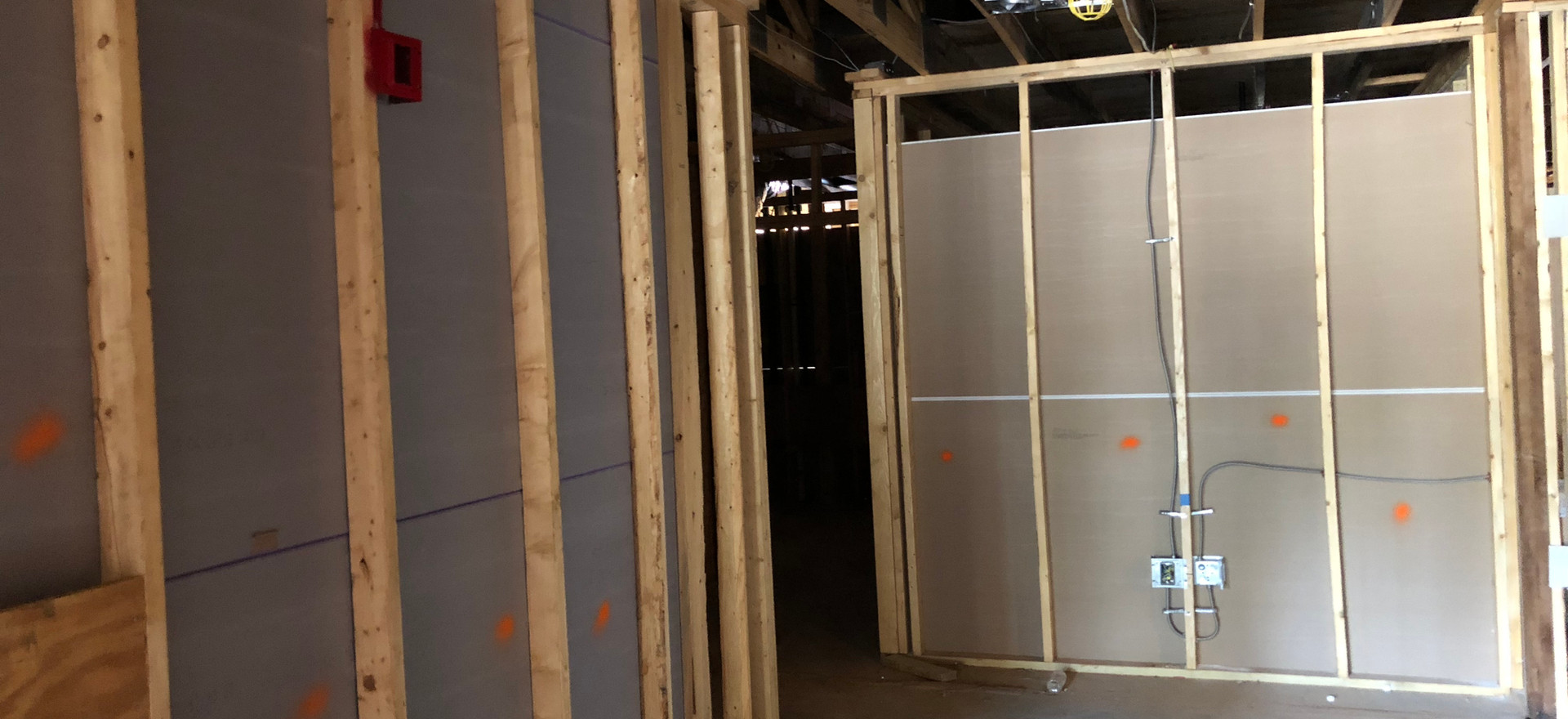 Drywall is Going Up