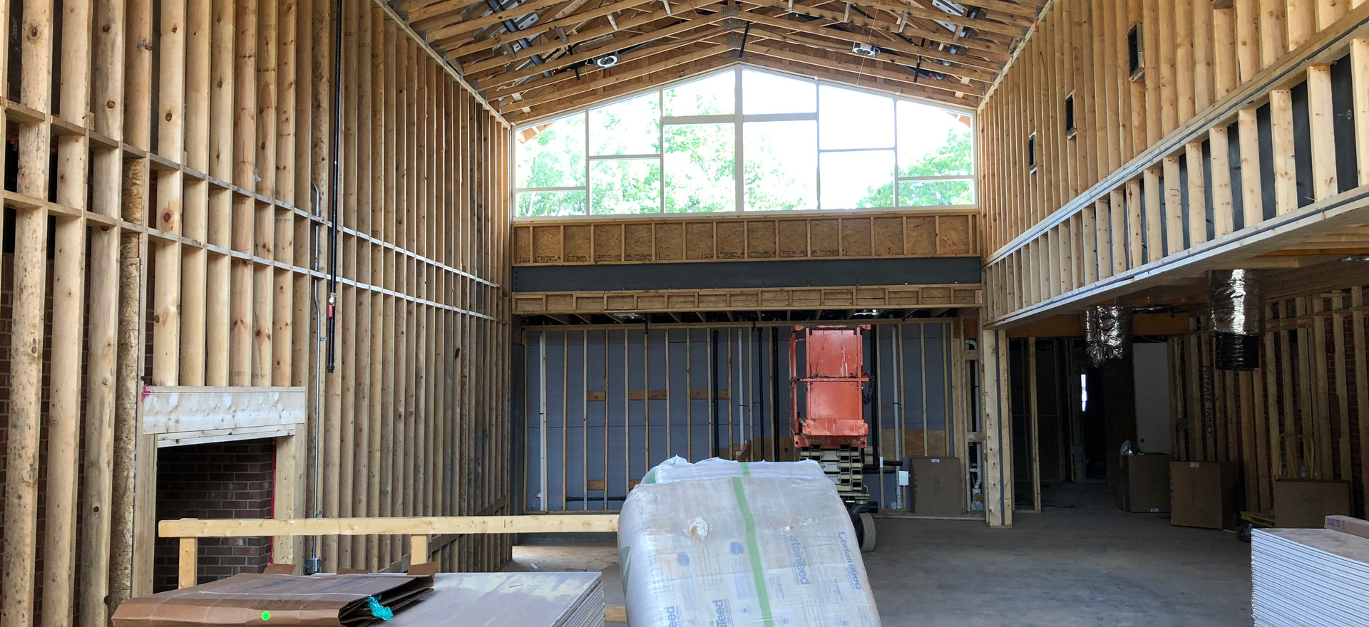Welcome Center Window Frames Are In