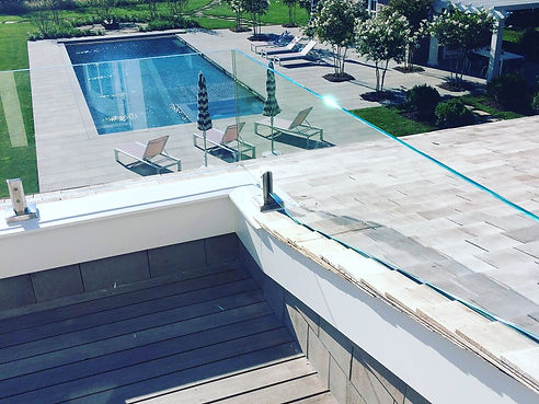 Exterior Glass Railing System