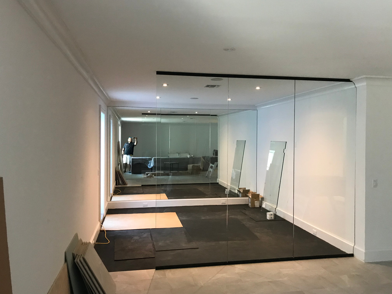 Gym Glass Wall