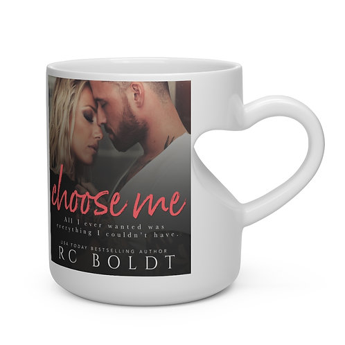 Choose Me 'I Choose Hollis Barnes' mug with heart-shaped handle