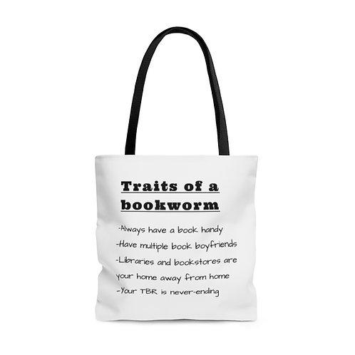 Traits of a Bookworm Tote Bag
