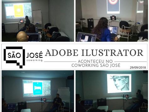 Aconteceu no Coworking São José o Curso de Adobe Illustrator