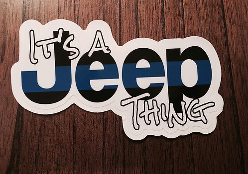 Blue Line Jeep Decal
