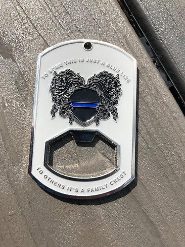 Blue Line Family Crest